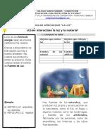 Guia de Aprendizaje Luz y Sonido 3º