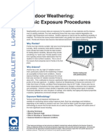 Outdoor Wathering and Basic Procedures
