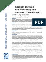 Natural Wathering vs Uv Fluorecsent