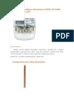 Medidor Monofásico Electrónico A102C 2H 5