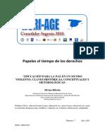 Educacion Para La Paz en Un Mundo Violento. Claves Historicas, Conceptuales y Metodologicas. Silvina Ribotta