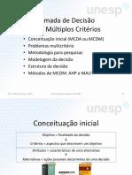 UNESP - Tomada de Decisão Com Múltiplos Critérios