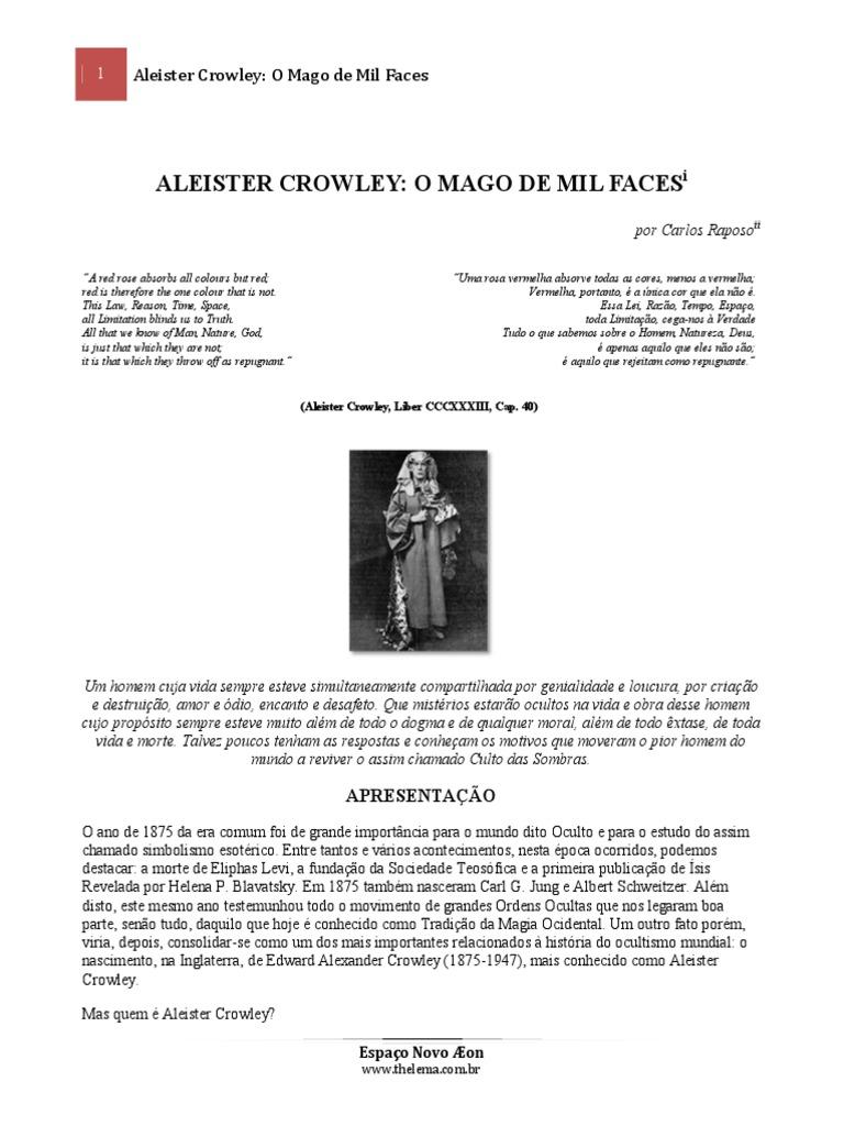 Carlos raposo aleister crowley o mago de mil faces versao 10pdf fandeluxe Image collections