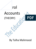 Control Accounts Theory