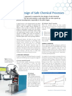 The Design of Safe Chemical Processes