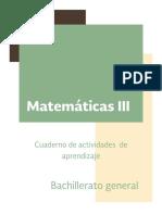 Cuaderno Matematicas III