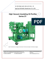 High Vacuum Insulating Oil Purifier Series ZY