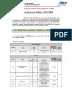 Edital Rio Bonito 2014 Incp