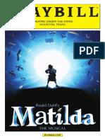Playbill - Matilda
