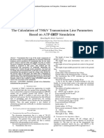 Calculation of 750kV Transmission Line Parameters Based on ATP-EMTP Simulation