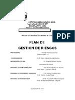 Plan de Gestión de Riesgo 2017