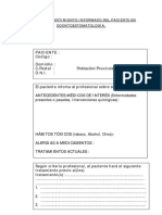 Consentimiento informado - Odontoestomatología