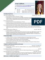 professional resume ledrew