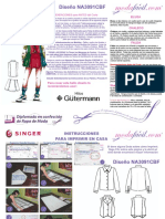 Instrucciones de Costura Blusa Chaleco y Falda Infantil y Juvenil Na3091bcf
