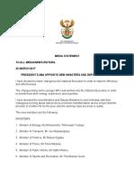 Presidency Statement Reshuffle 31/03/2017