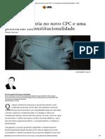 A Ação Rescisória No Novo CPC e Uma Potencial Inconstitucionalidade - JOTA