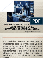 Contribuciones de La Medicina Legal Forense en La Inv. Criminalistica
