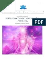 Seu Raio Cósmico de Missão - Violeta