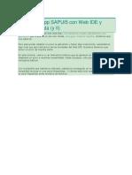 Crear Una App SAPUI5 Con Web IDE y Servicio OData