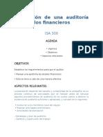 NIA 300 Planeación de Una Auditoría de Estados Financieros