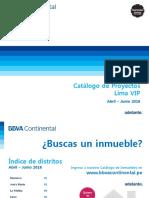 Catálogo de Proyectos Lima VIP Abr Jun 2016