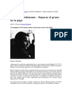 Michel de Salzmann – Separar El Grano de La Paja