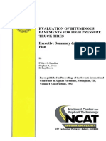 Evaluation of Bituminous Pavements for High Pressure Truck Tires
