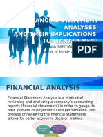 Report on Financial Statement Analyses