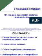 Jovenes Que Ni Estudian Ni Trabajan Un Reto Para La Cohesion Social en America Latina