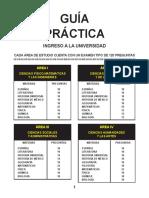Simulacros de Examen Para Ingreso a La Universidad UNAM