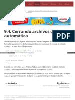 9.4. Cerrando Archivos de Forma Automática