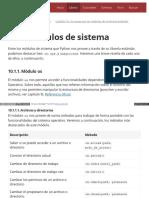 10.1. Módulos de Sistema