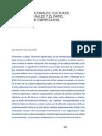 HOFSTEDE, G. Culturas Nacionales, Culturas Organizacionales y El Papel de La Gestión Empresarial