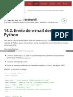 14.2. Envío de E-mail Desde Python
