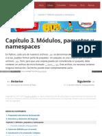Capítulo 3. Módulos, Paquetes y Namespaces