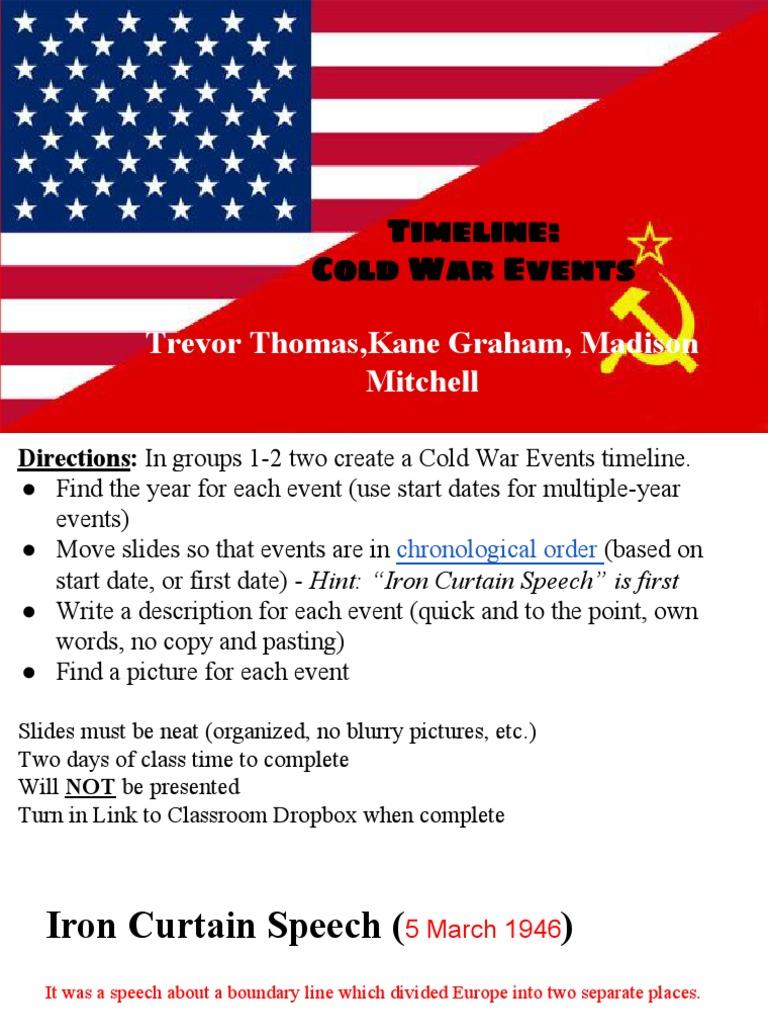 Trevor Thomas Kane Graham Madison Mitchell  Timeline  Cold War Events |  Cold War | Politics Of The Soviet Union