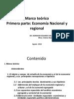 Marco teoroco economìa nacional y rgional