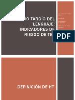 Inicio Tardío Del Lenguaje. Prof. Mendoza