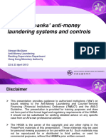Review of banks' anti-money laundering systems and controls
