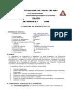 Silabo Estadistica II 2016 - II
