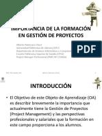 1.0.1 LA IMPORTANCIA DE LA FORMACIÓN EN GESTIÓN DE PROYECTOS