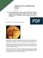 Una Oportunidad Para La Cientificación de La Astrologia