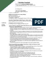 electronic resume christina sauchak
