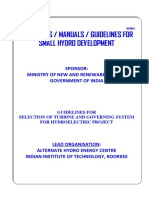 Guideline for Selection of Turbine_and_governing