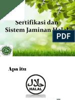 Sertifikasi Halal & SJH