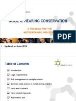 Noise Hearing Conservation 2015June