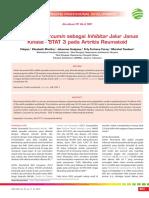 CPD 246-Pengaruh Curcumin Sebagai Inhibitor Jalur Janus Kinase-STAT 3 Pada Artritis Reumatoid