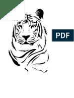 Plantilla Stencil Tigre