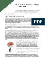 El Uso de La Escritura en IFES