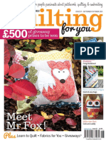 Patwork Quilting for You Issue 94, 2015